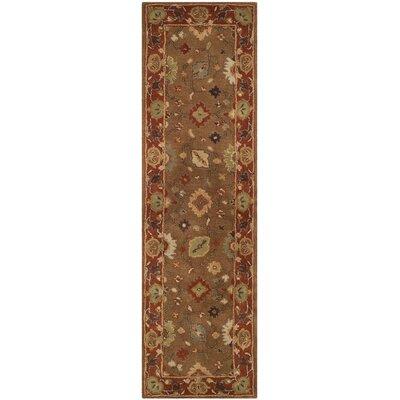 Cranmore Moss/Rust Area Rug Rug Size: Runner 23 x 8
