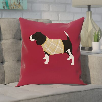 Acropolis Decorative Holiday Print Throw Pillow Size: 16 H x 16 W, Color: Cranberry/Burgundy