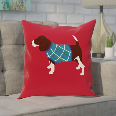 Acropolis Decorative Holiday Print Throw Pillow Size: 26 H x 26 W, Color: Red