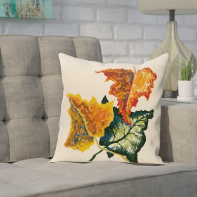 Adele Flower Print Throw Pillow Size: 26 H x 26 W, Color: Off White
