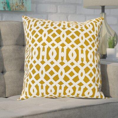 Bancroft Woods Nairobi De Printed Cotton Throw Pillow Cover Color: Desert