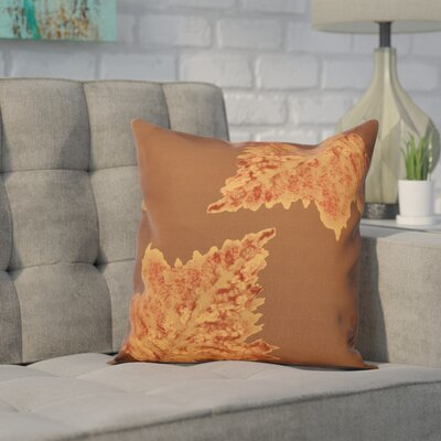 Aileen Flower Print Throw Pillow Color: Brown, Size: 18 H x 18 W