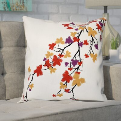 Agawam Flower Print Throw Pillow Color: Purple, Size: 18 H x 18 W