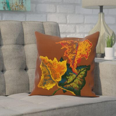 Adele Flower Print Throw Pillow Size: 16 H x 16 W, Color: Brown