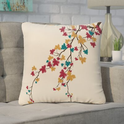 Argon Flower Print Floor  Pillow Color: Teal
