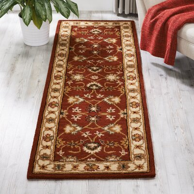Cortese Regal Red Area Rug Rug Size: Runner 23 x 76
