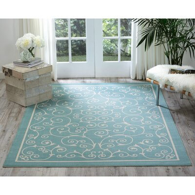 Wright Light Blue Indoor/Outdoor Area Rug Rug Size: Rectangle 43 x 63