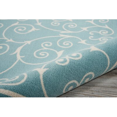 Wright Light Blue Indoor/Outdoor Area Rug Rug Size: Rectangle 79 x 1010