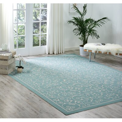 Wright Light Blue Indoor/Outdoor Area Rug Rug Size: Rectangle 10 x 13