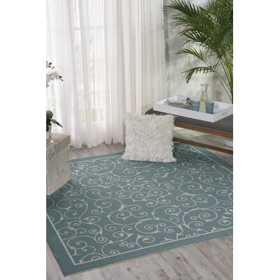 Wright Light Blue Indoor/Outdoor Area Rug Rug Size: Square 86 x 86