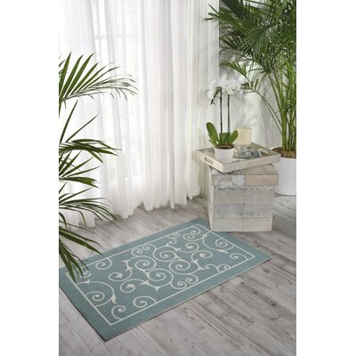 Wright Light Blue Indoor/Outdoor Area Rug Rug Size: Rectangle 23 x 39