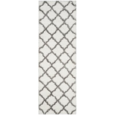 Brimfield Ivory/Gray Area Rug Rug Size: Runner 23 x 7