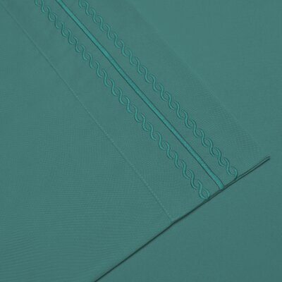 Bilbrey Infinity Embroidered Pillow case Size: King, Color: Teal