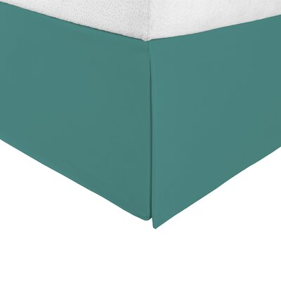 Bilbrey Infinity Bed Skirt Color: Teal, Size: Twin XL
