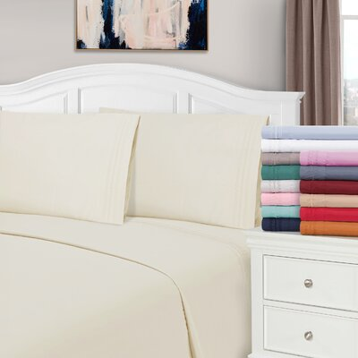 Bilbrey Infinity Embroidered Pillow case Size: King, Color: Ivory