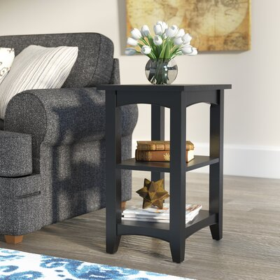 Birch Creek Two Shelf End Table Finish: Charcoal