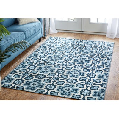 Maryville Blue Area Rug Rug Size: 5 x 8
