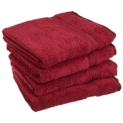 Patric 4 Piece Bath Towel Set Color: Burgundy