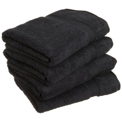 Patric 4 Piece Bath Towel Set Color: Black
