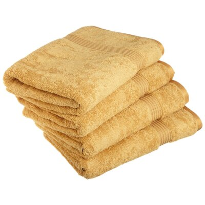 Patric 4 Piece Bath Towel Set Color: Gold