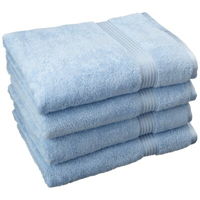 Patric 4 Piece Bath Towel Set Color: Light Blue