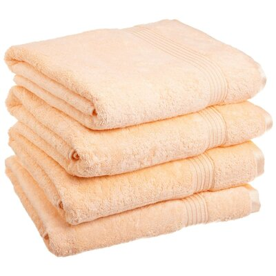 Patric Bath Towel Set Color: Peach