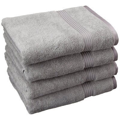 Patric 4 Piece Bath Towel Set Color: Silver