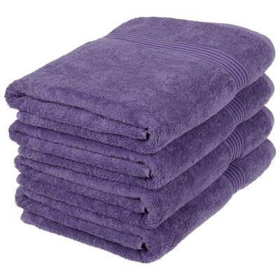Patric Bath Towel Set Color: Royal Purple