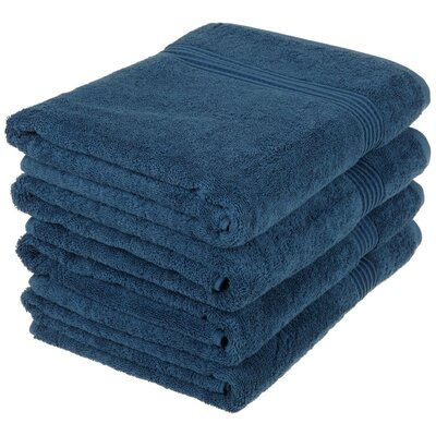 Patric 4 Piece Bath Towel Set Color: Sapphire