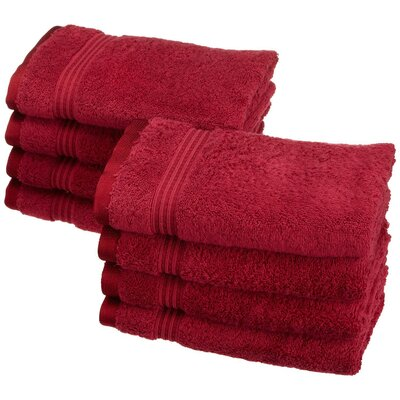 Nashville 600GSM Premium Combed Cotton Hand Towel Color: Burgundy