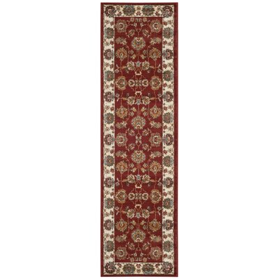 Lowe Red/BeigeArea Rug Rug Size: 4 x 6