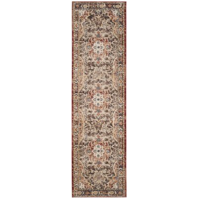Broomhedge Brown/Rust Area Rug Rug Size: Runner 23 x 8