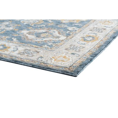 Beryl Traditional Navy/Beige Area Rug Rug Size: Runner 23 x 73