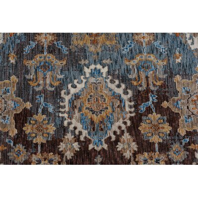 Beryl Traditional Brown/Blue Area Rug Rug Size: 710 x 103