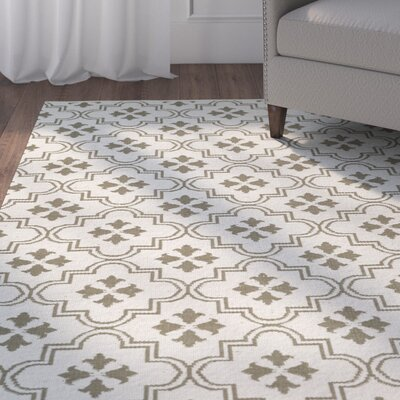 Covington Cream/Taupe Indoor/Outdoor Area Rug Rug Size: Rectangle 5 x 76