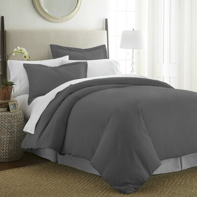 Moran Duvet Set Color: Gray, Size: Queen