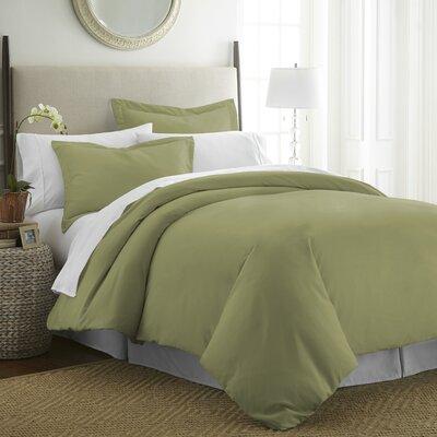 Moran Duvet Set Color: Sage, Size: Queen