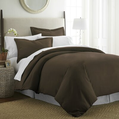 Moran Duvet Set Color: Chocolate, Size: King