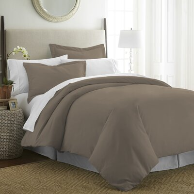 Moran Duvet Set Size: King, Color: Taupe