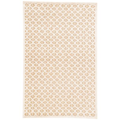 Ada Taupe/Ivory Area Rug Rug Size: Rectangle 5 x 76