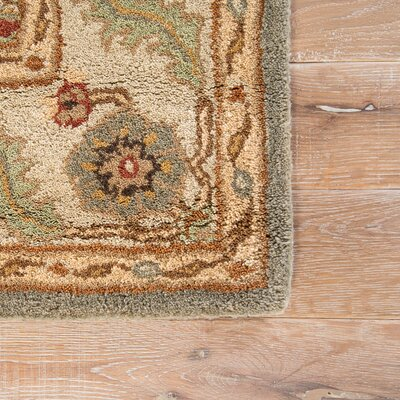 Trinningham Hand-Tufted Beetle/Spray Green Area Rug Rug Size: 2 x 3