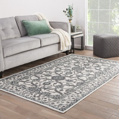 Ada Ivory/Gray Area Rug Rug Size: Rectangle 2 x 3
