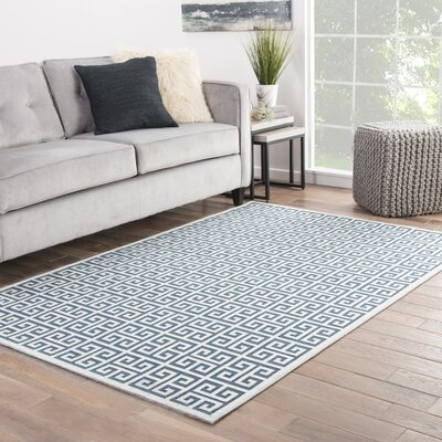 Ada Blue/Gray Area Rug Rug Size: Rectangle 76 x 96
