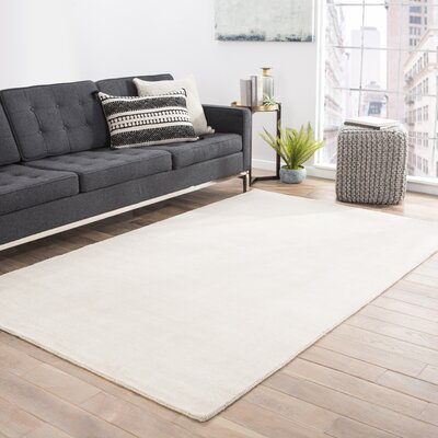 Fairlop Hand-Loomed Fog Area Rug Rug Size: Rectangle 2 x 3