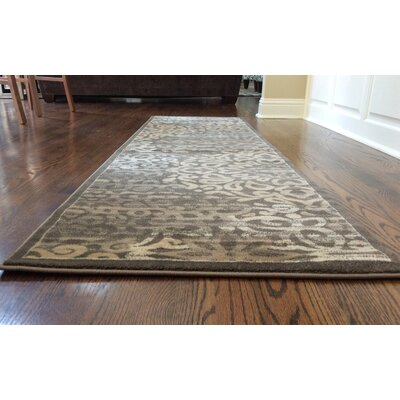 Ackermanville Brown Area Rug Rug Size: 33 x 411