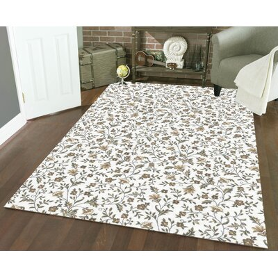 Ackermanville Bone Area Rug Rug Size: Rectangle 33 x 411