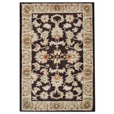 Beachampton Vintage Hand-Woven Wool Brown/Beige Area Rug Rug Size: Rectangle�5 x 8