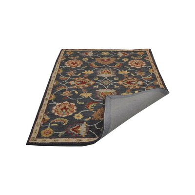 Beachmount Vintage Hand-Tufted Wool Charcoal Area Rug Rug Size: 5 x 8
