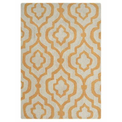 Beamish Hand-Woven White/Gold Area Rug Rug Size: Rectangle�8 x 10