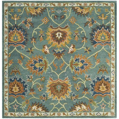 Cranmore Hand-Tufted Light Blue/Yellow Area Rug Rug Size: Square 6